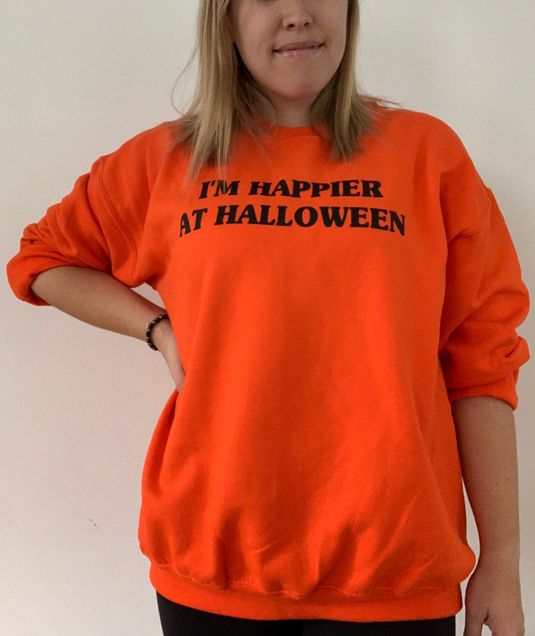 I'm Happier At Halloween Sweatshirt