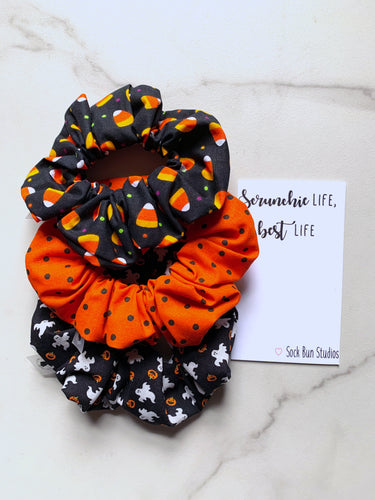 NEW Candy Corn Scrunchie Pack