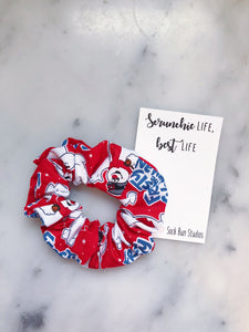 Frosty the Snowman Christmas Scrunchie