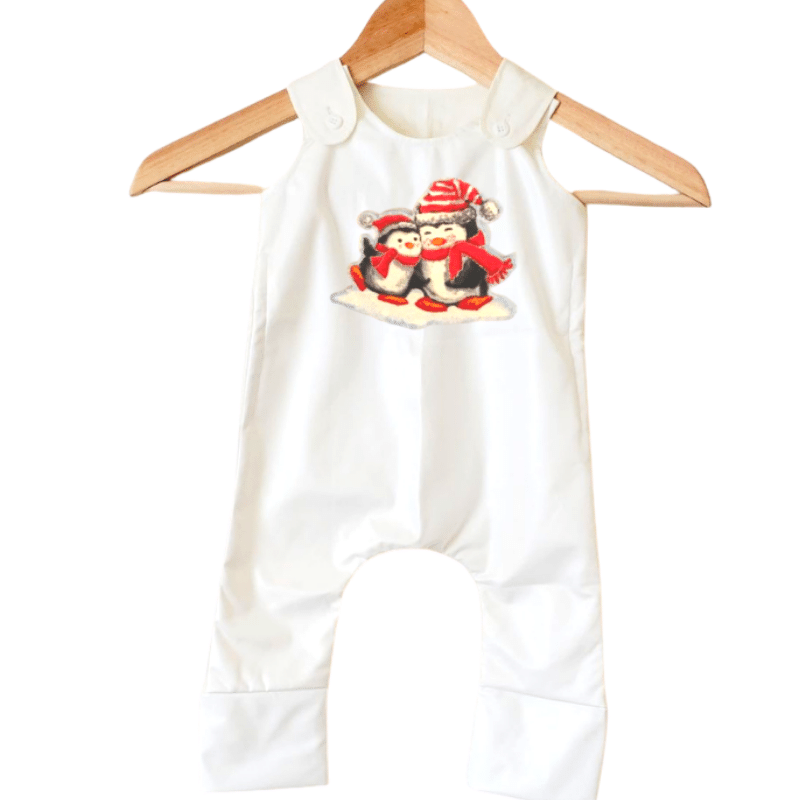 Stain-Proof & Expandable Romper Christmas Penguin Family-Snug Bub USA