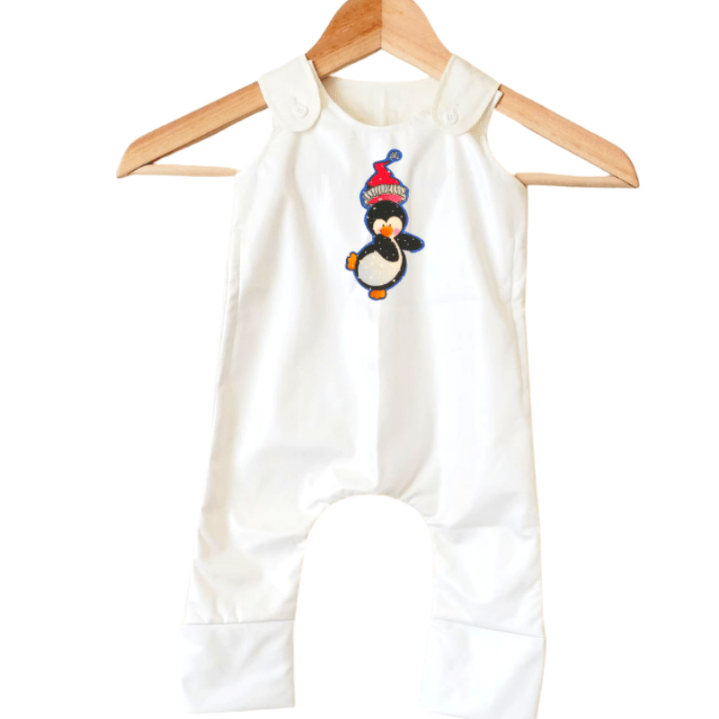 Stain-Proof & Expandable Romper Christmas Penguin