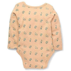 Printed  Organic Cotton Onesie Herbal Dyed ( Orange)