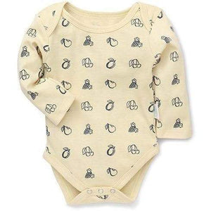 Printed  Organic Cotton Onesie Herbal Dyed ( Yellow)