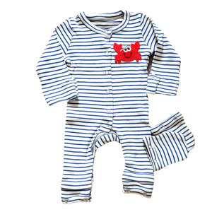 Blue Expandable Baby Clothes For Boys Happy Crab Patch