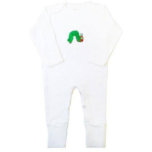 Caterpillar  Infant Jumpsuit With Foldable Mittens Booties