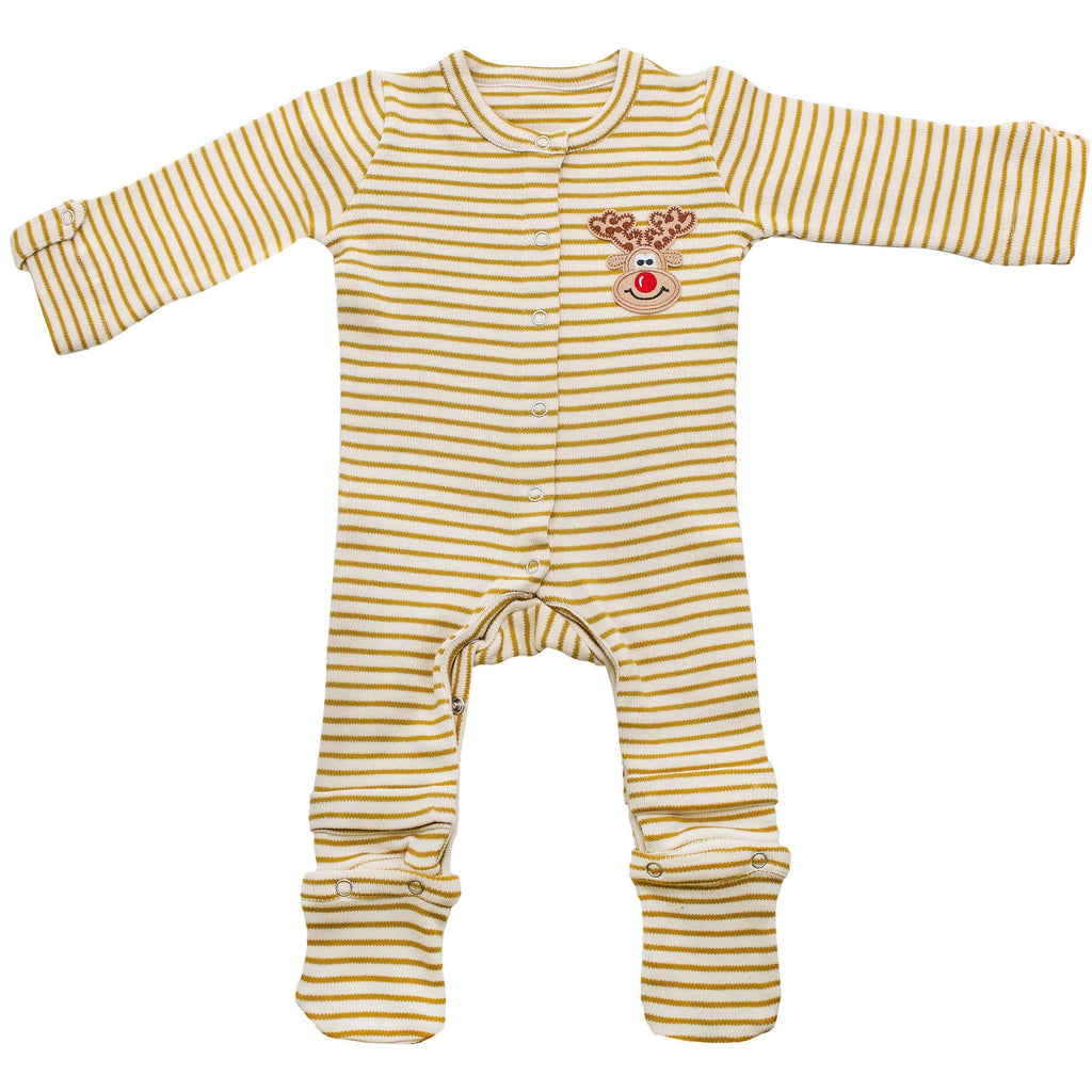 Expandable Jumpsuit Infant Reindeer Patch Baby Clothes