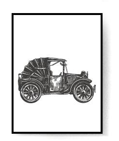 Chronic Carriages Black Classical Car Canvas