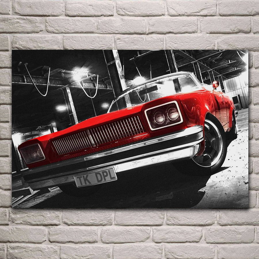 Awesome Retro Red Car Hot Rod Poster from Chronic Carriages