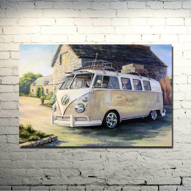 VW BUS Classic Car Art Silk Poster Print 13x20 inches Pictures Decoration 010
