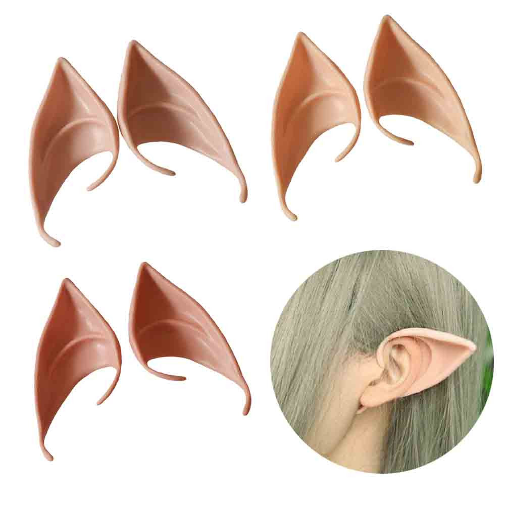 1 Pair Elves Ears Halloween Cosplay Decorations - Latex Fake Ears