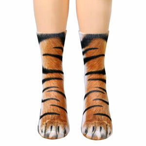 Animal Paw Socks - 1 Pair