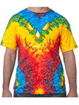 Pumpkin Head Halloween Tie Dye Tee Shirt - Woodstock, Small