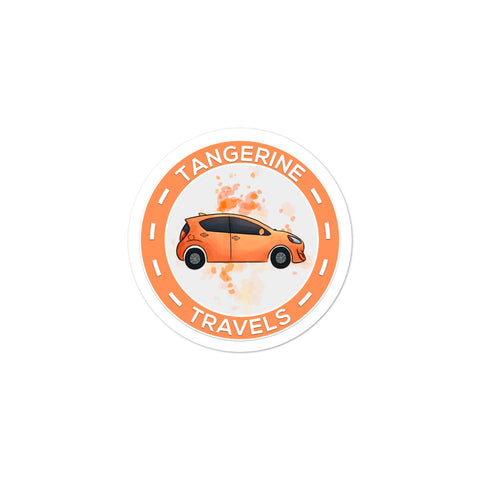 Vinyl Tangerine Travels Logo Sticker