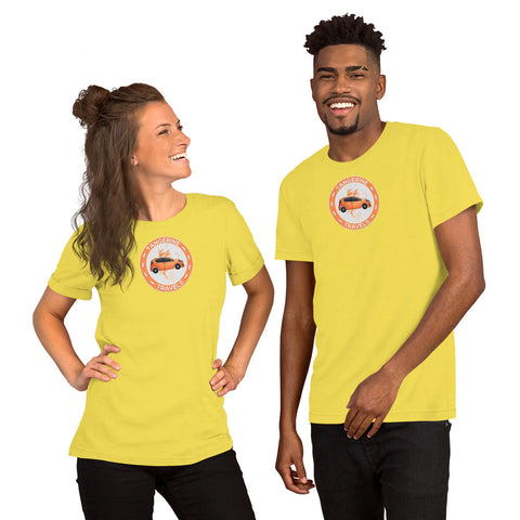 Tangerine Travels Large Logo T-Shirt (UNISEX, Jersey, 15 Color Options)