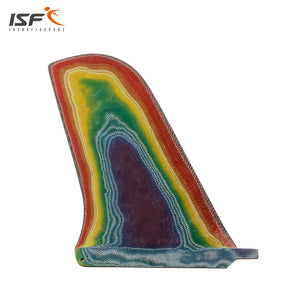 "Multicolor Fiberglass Single Fin 10"" Inch FCS"