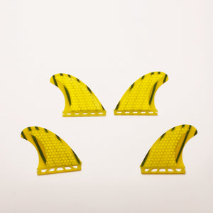 Honeycomb Fiberglass Future Quad Set Yellow