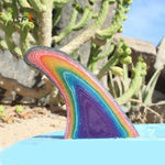 Multicolor Fiberglass Single Fin FCS Future