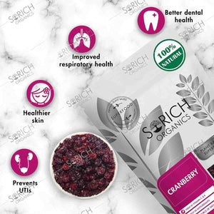 Sorich Organics Naturally Dried Whole Cranberries - Dehydrated Fruit