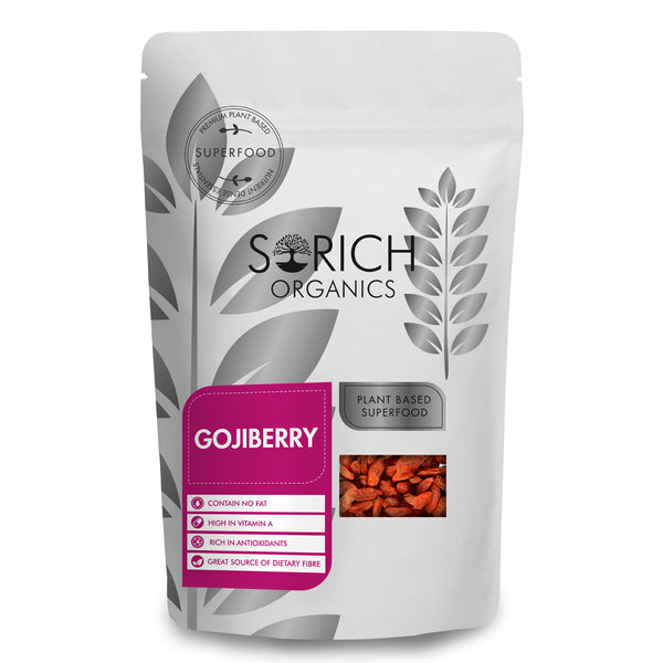 Naturally Dried Goji Berries Unsulphured Unsweetened and Naturally Dehydrated Fruits