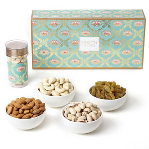 Sorich Organics Dry Fruit Medley Gift Pet Jar Combo - Pistachio, Cashew, Raisins and Almond - 270 Gm