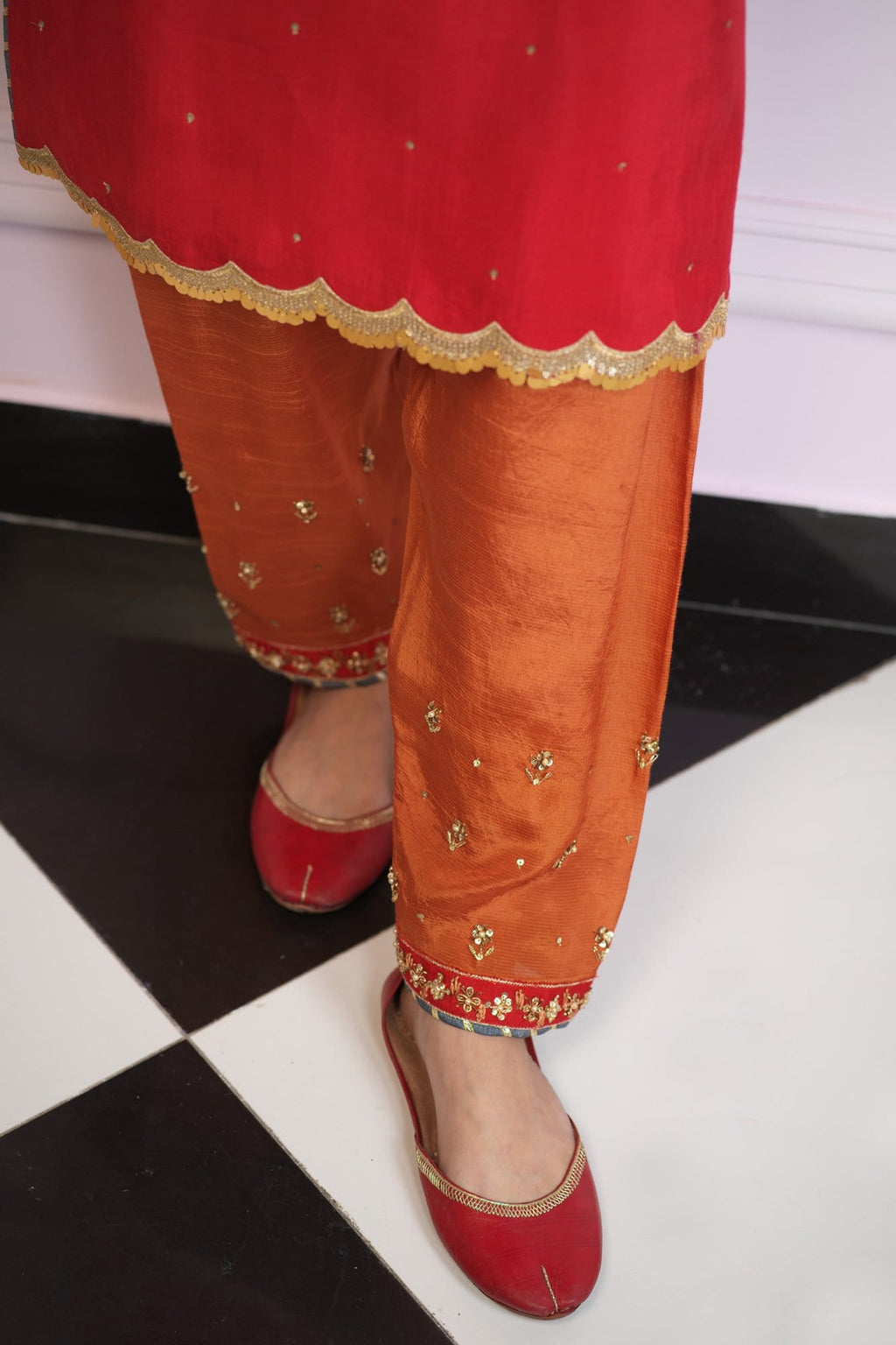 Payal Raw Silk Shalwar