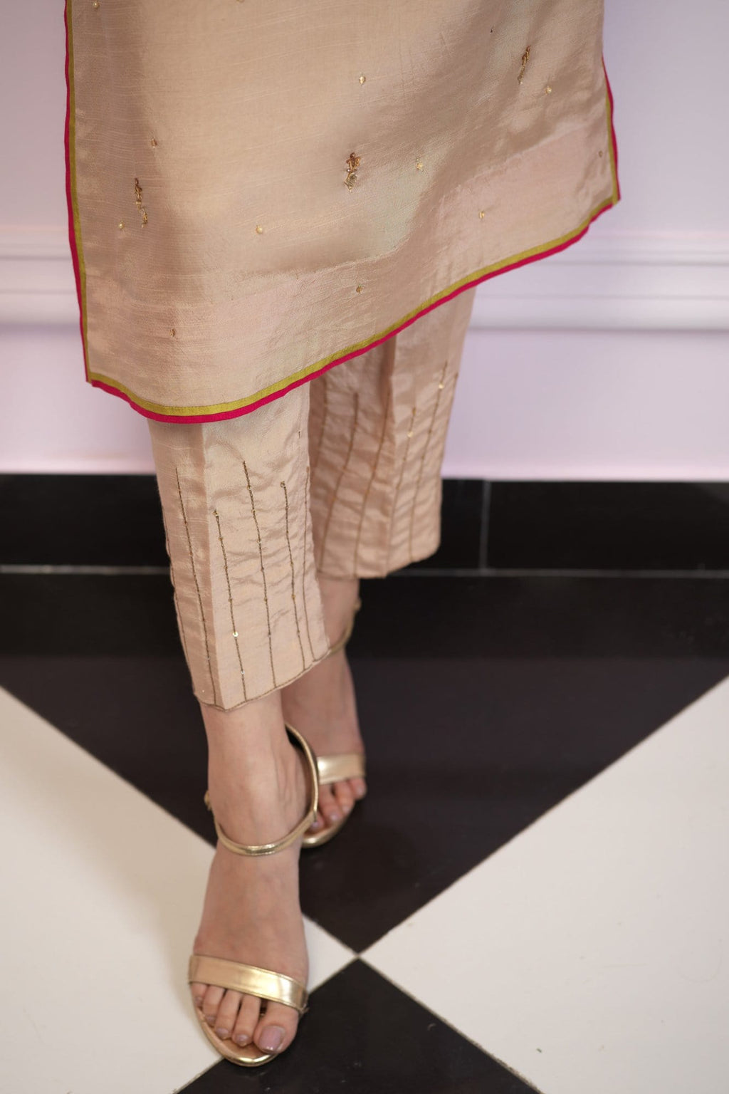 Kangan Raw Silk Pant