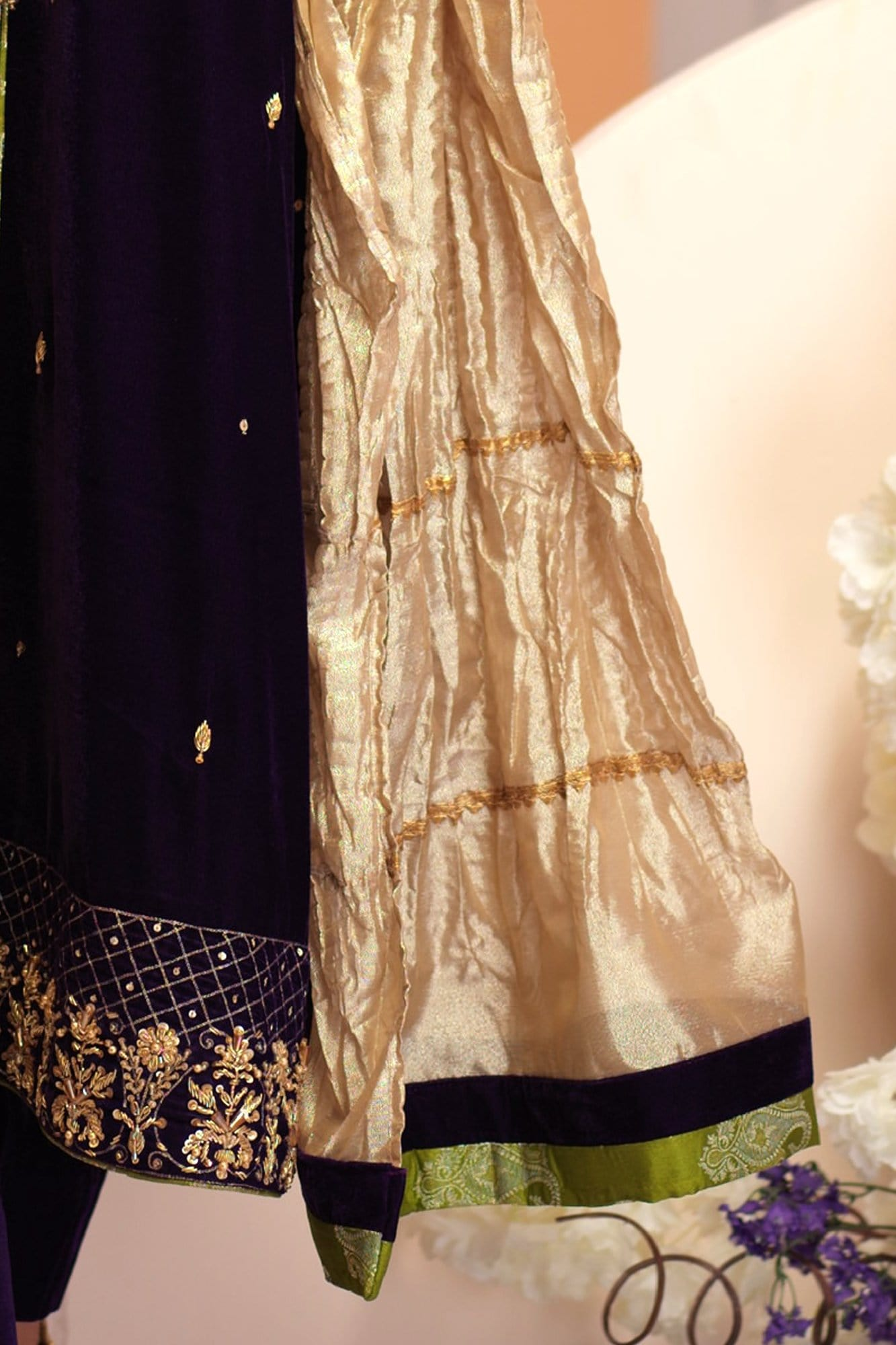 Kanwal Gold Crushed Dupatta