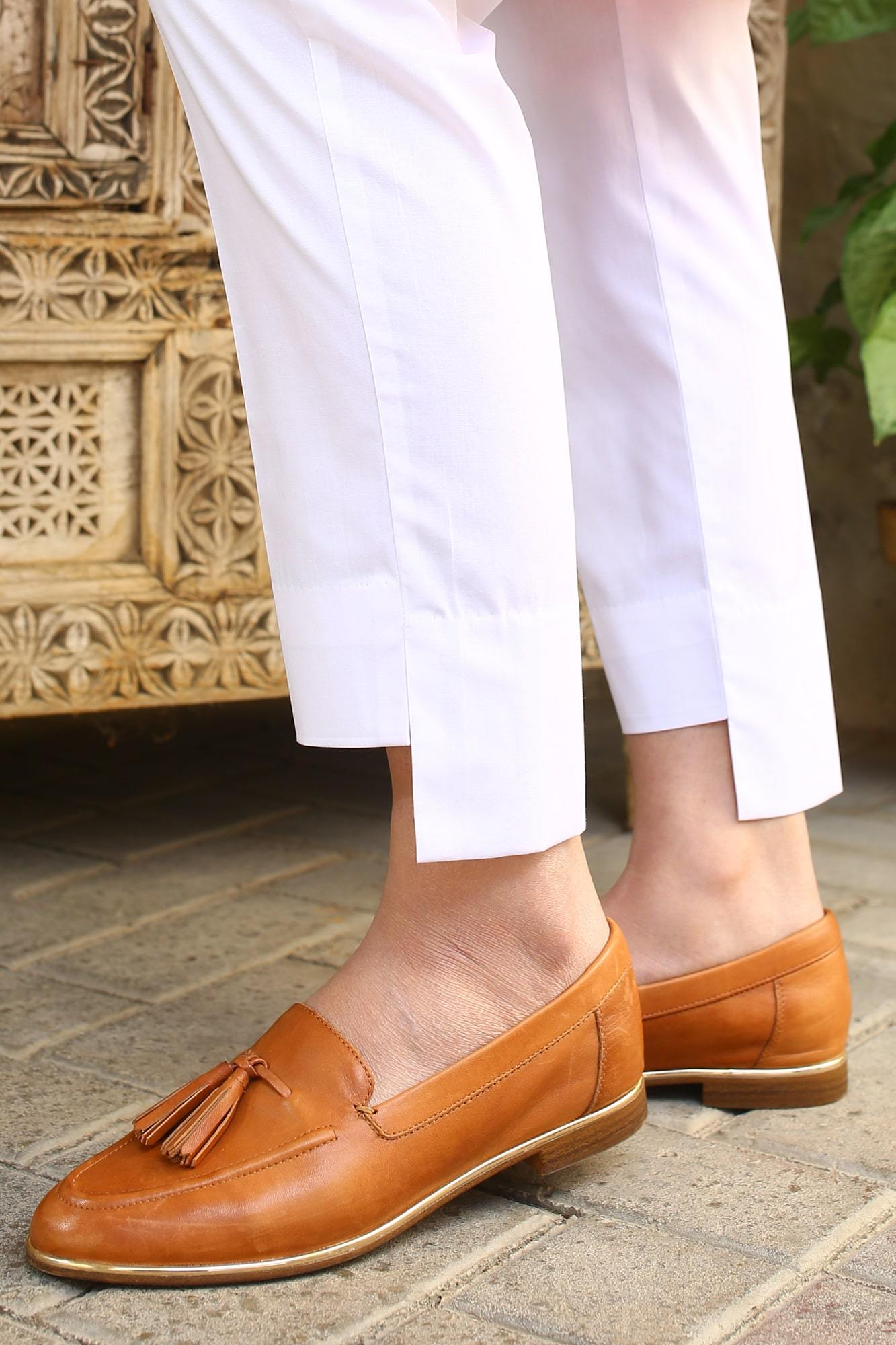 White High Low Pant
