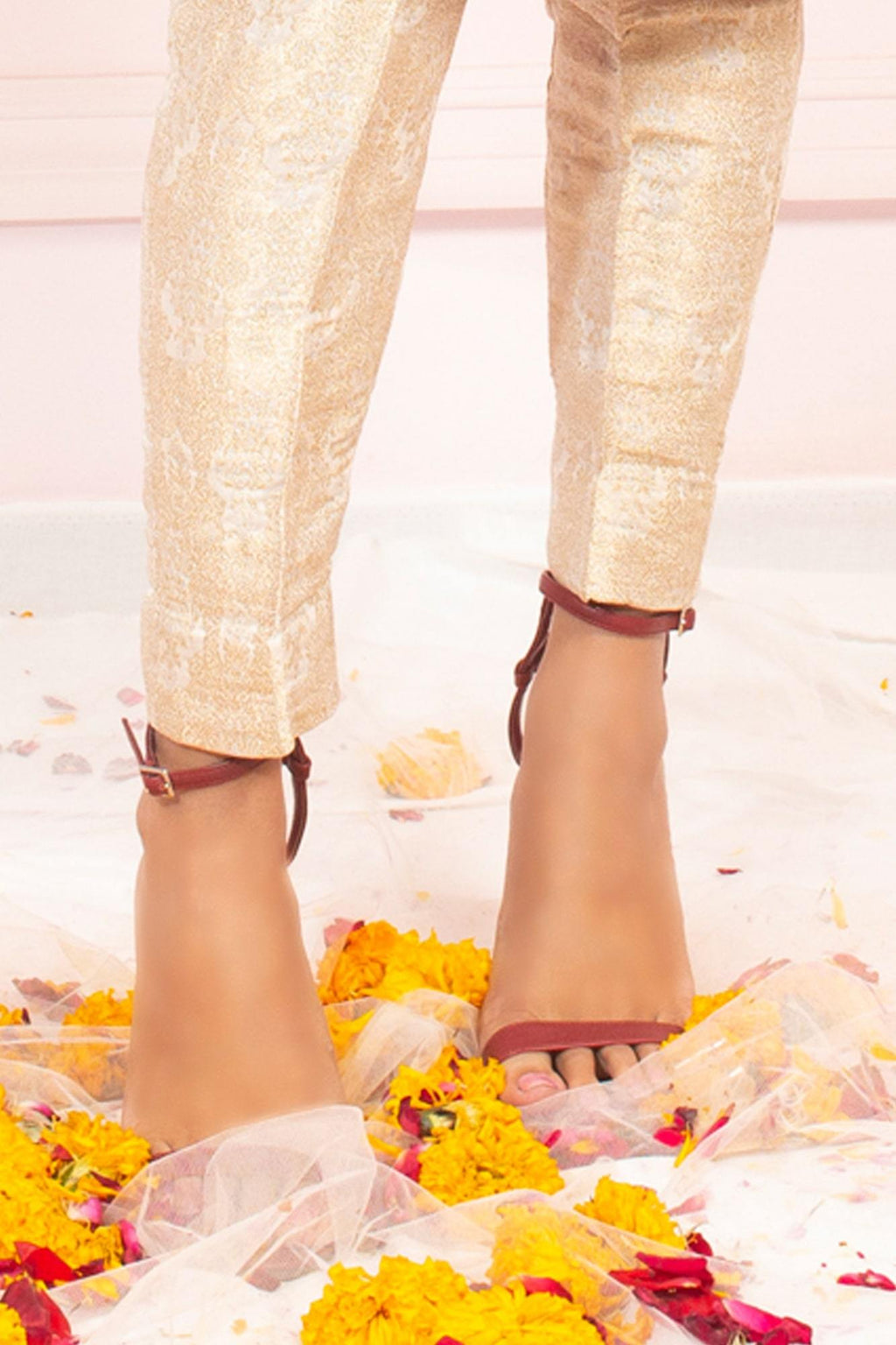 Light Gold Banarsi Pant