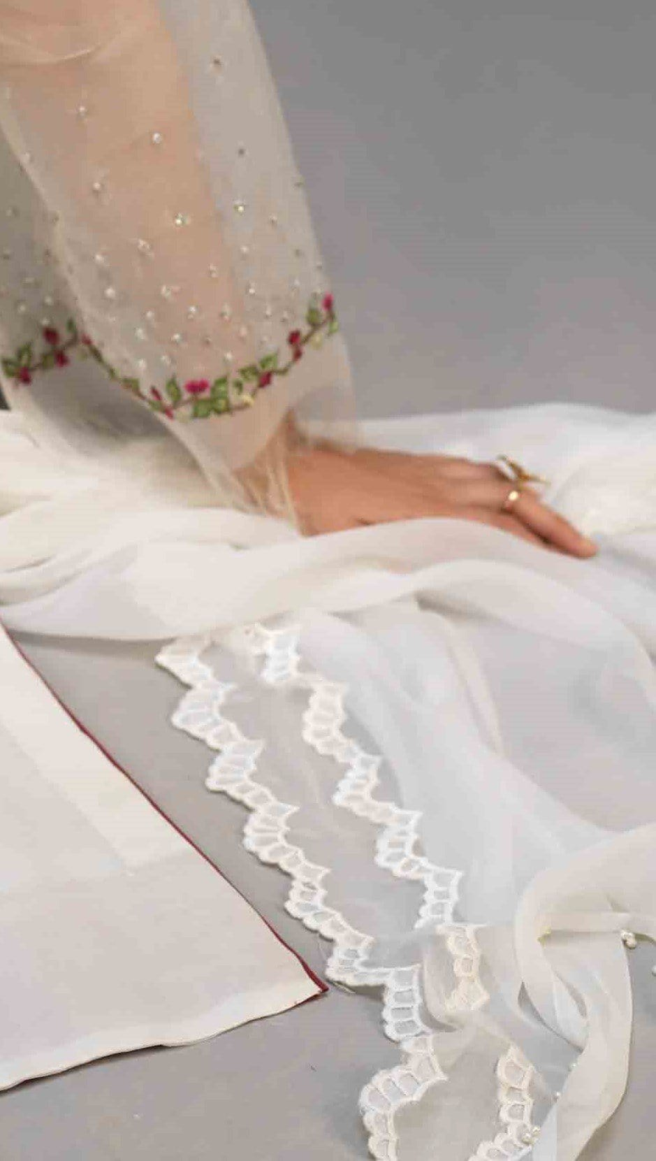 Pure Chiffon Embroidered Dupatta