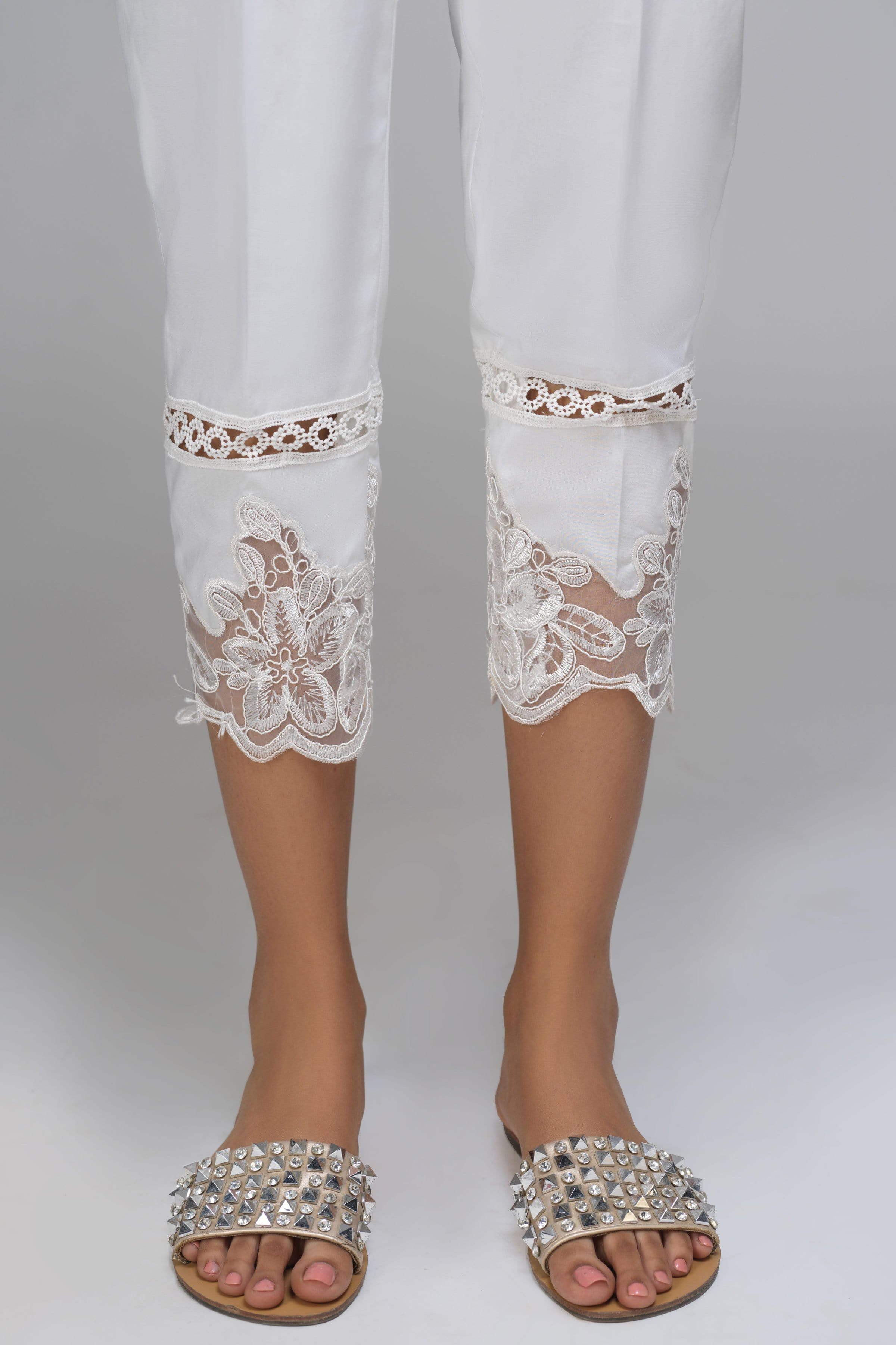 White Lace Pants