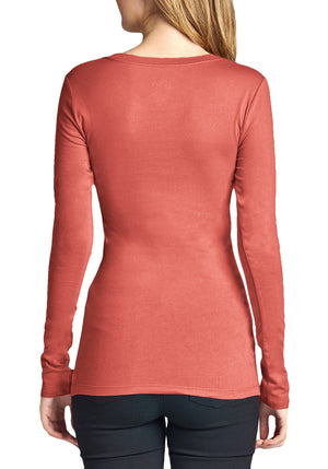 Basic Long Sleeve Round Neck Tee (Plus)
