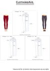 French Terry Basic Jegging Skinny Pants