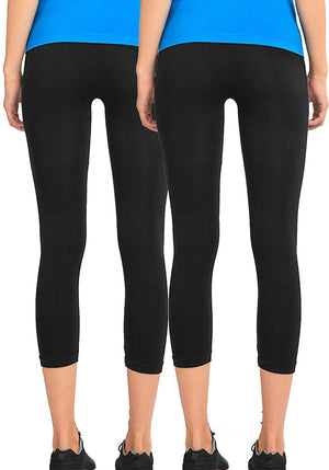 Basic Nylon Capri Leggings (2Pack)