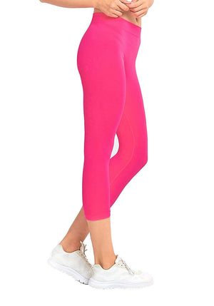 Basic Nylon Capri Leggings