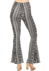 Soft Stretchy High Waist Boho Bell Bottom Flare Pants