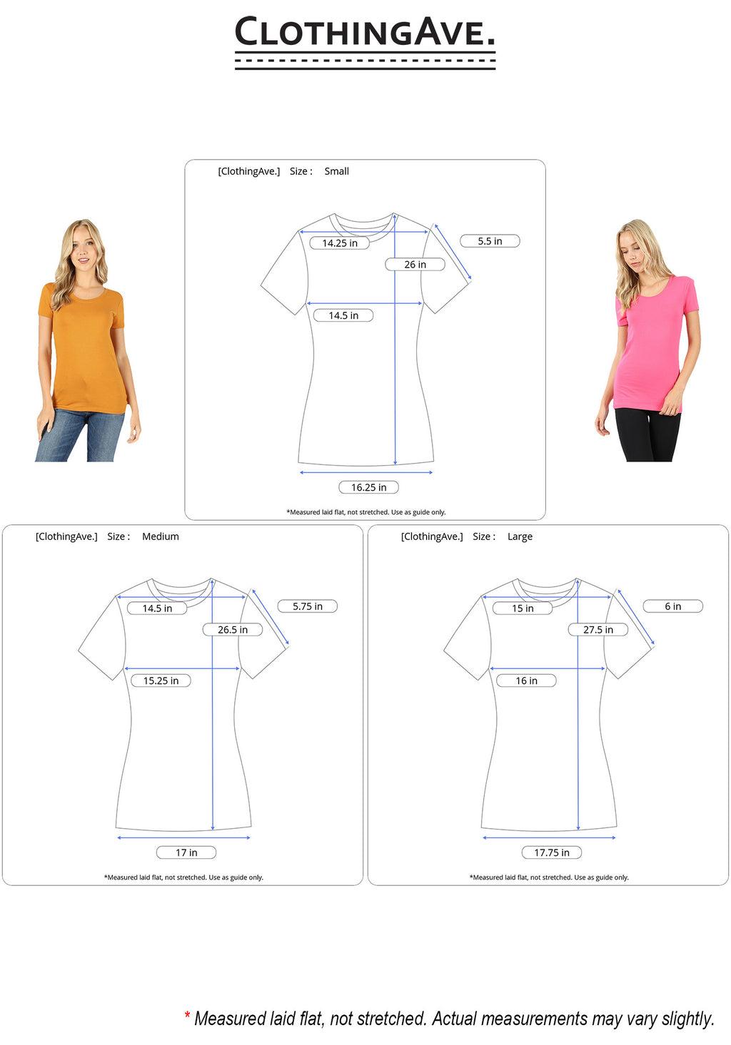 Basic Scoop Neck Short Sleeve Tee-2