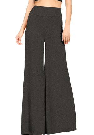 Premium Fabric Wide Leg High Waist Palazzo Pants