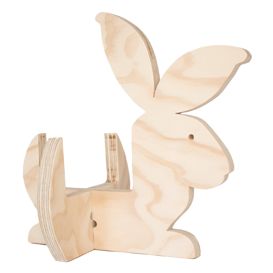 Wooden bunny holder