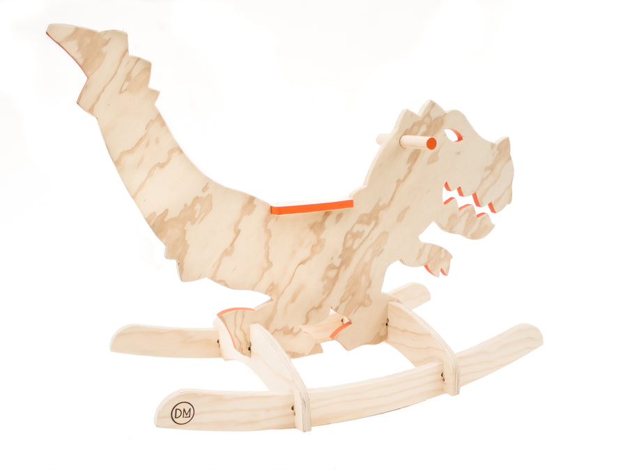 Wooden Rocking T-Rex