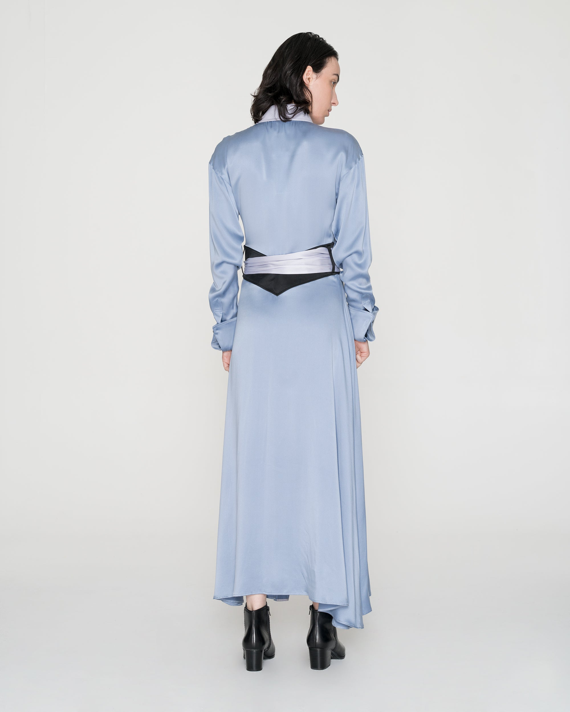 Ms. Moonlight Silk Shirt Dress