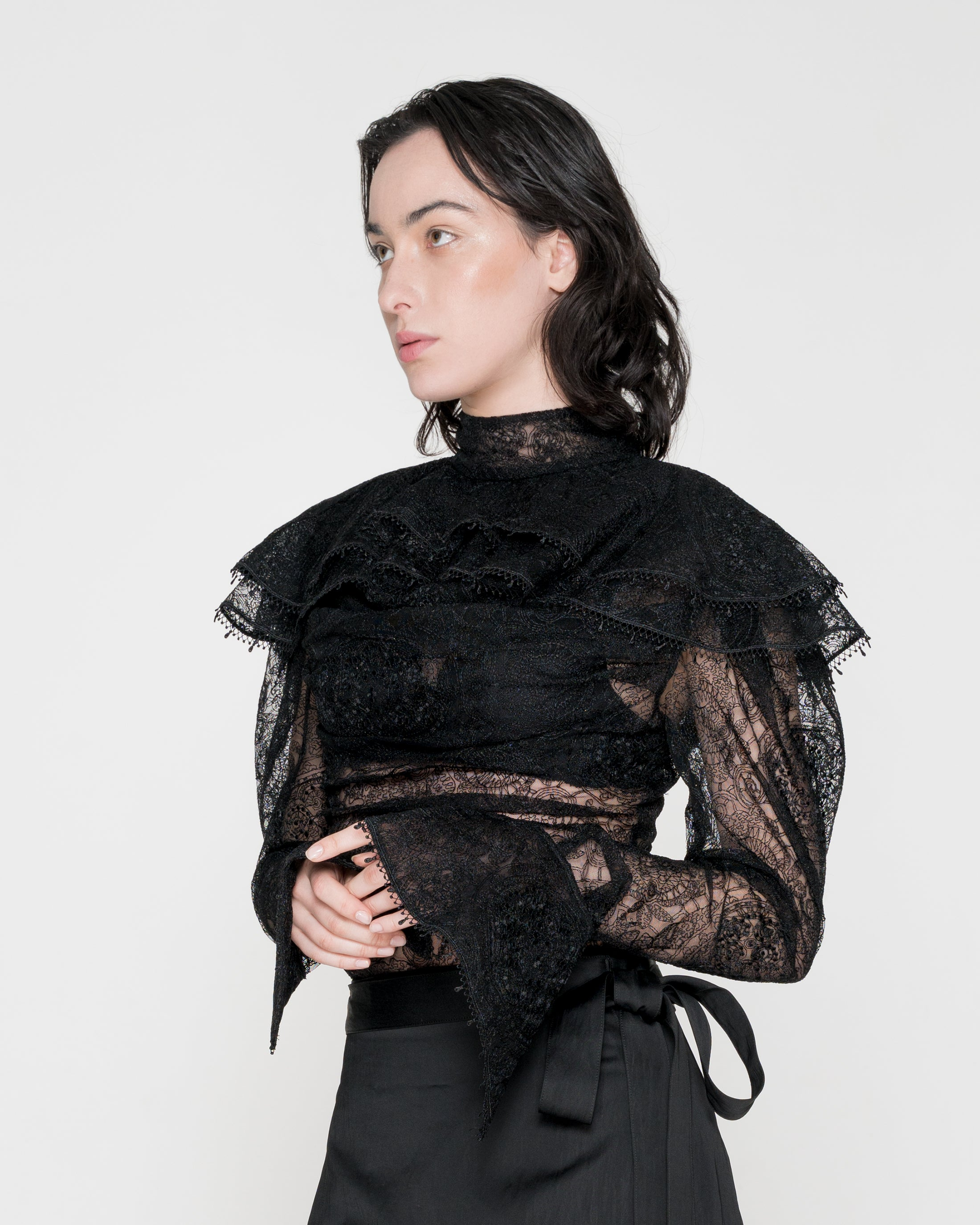 Frilled Lace Blouse