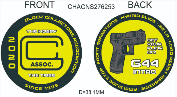 GLOCK Collectors Association 2020 Challenge Coin