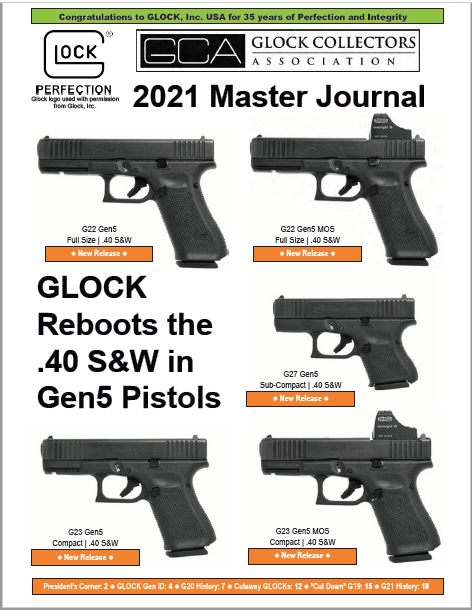 The 2021 Master Journal--with GLOCK Serial Numbers--Is Complete!