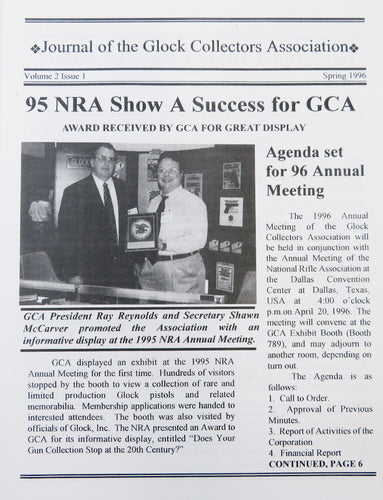 Journal of Glock Collectors Association Volume 2, Issue 1