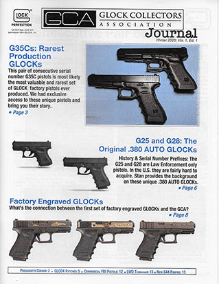 glock collectors club, glock fbi guns, elp glocks, lone wolf, glock 25, glock 28, g44 intro