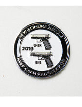 front of 2019 glock challenge coin