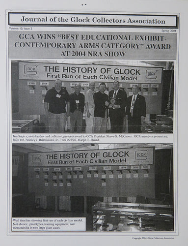 Journal of Glock Collectors Association Volume 10, Issue 2