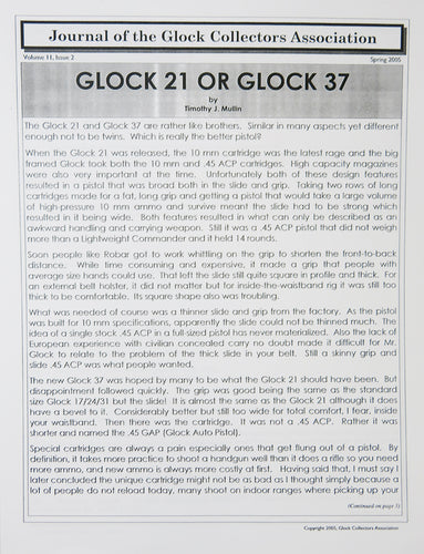 Journal of Glock Collectors Association Volume 11, Issue 2