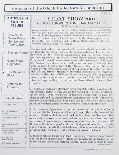 Journal of Glock Collectors Association Volume 7, Issue 2 reprint